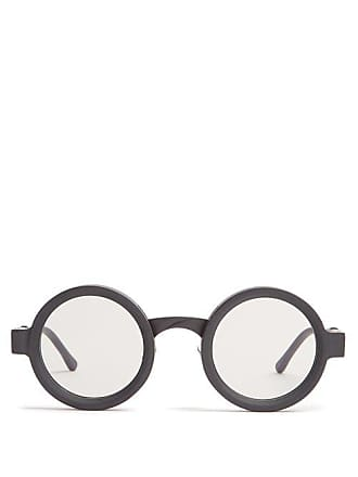 deeb4b9457 Kuboraum Round Frame Acetate Sunglasses - Mens - Black