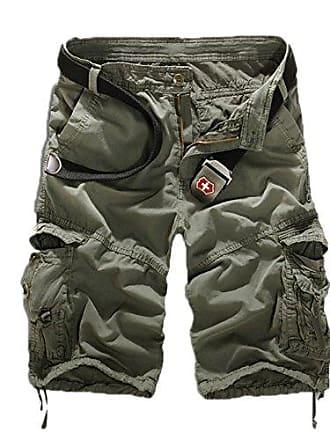 d3fca97509ce9c Huateng Herren Sommer Retro Casual Cargo Shorts Multi Taschen