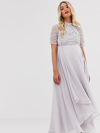 Asos Maternity ASOS DESIGN Maternity maxi dress with short sleeve embellished bodice-Multi