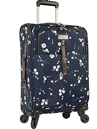 Chaps 20 Expandable Carry On Spinner Luggage Navy Ditzy Floral