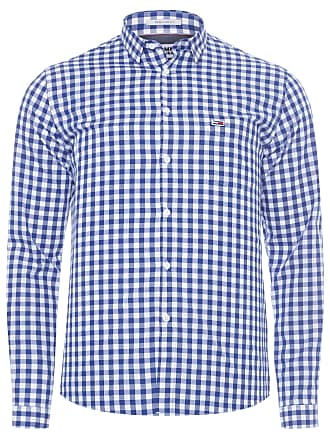 Tommy Jeans CAMISA MASCULINA GINGHAM SHIRT - AZUL