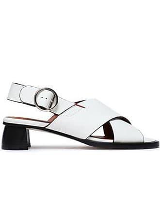 Joseph Joseph Woman Cross Leather Slingback Sandals White Size 36