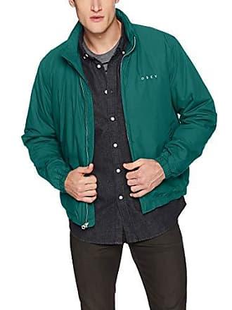 Obey Mens Debaser II Cropped Jacket, Dark Teal, XX-Large