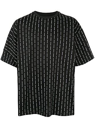Wooyoungmi Camiseta oversized com logo - Preto