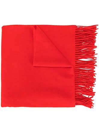 Pringle Of Scotland fringed scarf - Vermelho