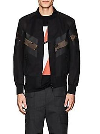 Neil Size L Black Barrett Faux Inset Mens Bomber Jacket
