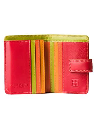 536f7b3486 DuDu Portafoglio donna piccolo di pelle colorata porta carte DUDU Rosso