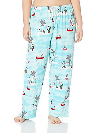 8422e4e54 Hue Printed Knit Long Pajama Sleep Pant Womens, Capri/Penguin on Vacay,  Large