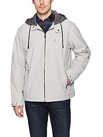 8458ef9230fc1 Izod Mens Oxford Jacket with Jersey Hood and Polar Fleece Lining