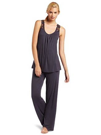 733d2f302 Midnight by Carole Hochman Womens Cover Girl Pajama Set, Dark Charcoal,  Large