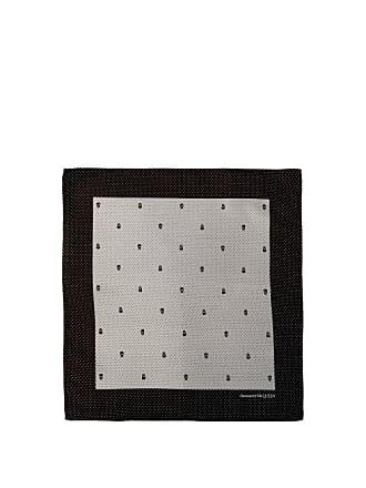 4df735b9b5b20 Alexander McQueen Alexander Mcqueen - Skull And Polka Dot Jacquard Silk  Pocket Square - Mens -