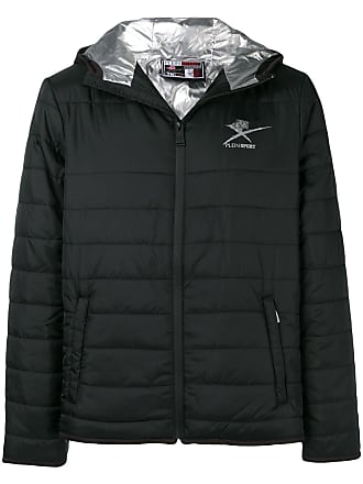 Plein Sport padded hooded jacket - Preto