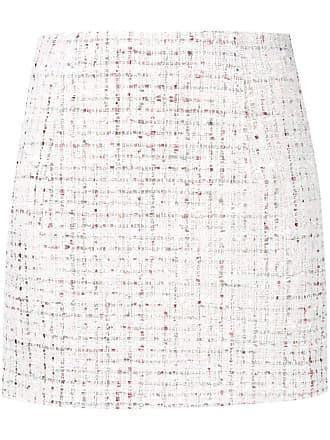 Jovonna London Saia de tweed - Branco
