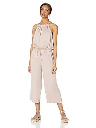 Daily Ritual Womens Tencel Halter Jumpsuit, Light Pink, 2