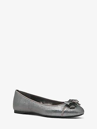 Michael Kors Alice Metallic Leather Ballet Flat