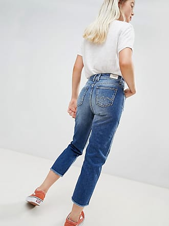 2cbdd410578 Pepe Jeans London Patchy Panelled Cropped Boyfriend Jeans - Blue