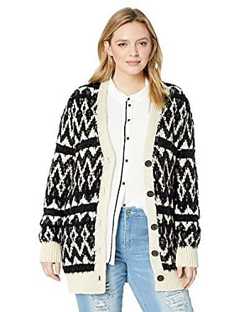 7a7090f7ef Lucky Brand Womens Plus Size Diamond Fairisle Cardigan Sweater
