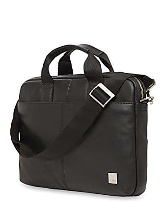 Knomo Luggage Mens Stanford Briefcase, Black, One Size