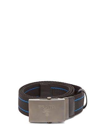 cb8bb128482 Prada Striped Canvas Belt - Mens - Black Blue