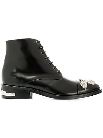 Toga Archives polished lace-up boots - Preto