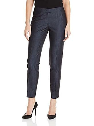 Anne Klein Womens Denim Pant, Indigo Twill, 10