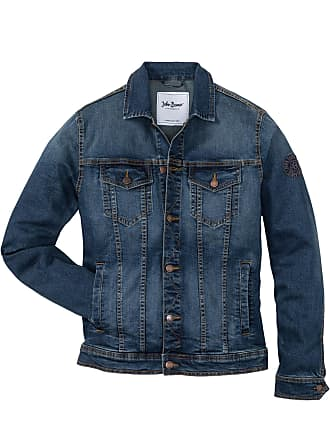 45e72d1af932 John Baner Jeanswear Stretch-Jeansjacke mit Badge Regular Fit langarm in  blau von bonprix