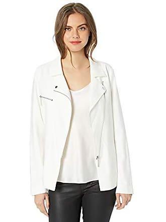 Nicole Miller Womens Draped Jacket, Bright White-10001, 8
