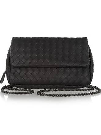 Bottega Veneta Messenger Mini Intrecciato Leather Shoulder Bag - Black d7b82e69a2960
