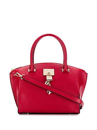 DKNY Bolsa de mão com cadeado - Vermelho