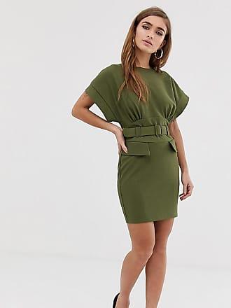05d95ec164e5 Asos Petite Esclusiva ASOS DESIGN Petite - Vestitino longuette multitasche  con cintura - Verde