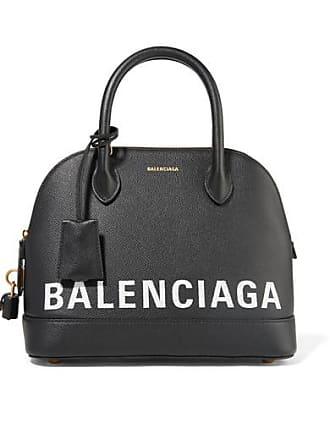 Balenciaga Ville Printed Textured-leather Tote - Black