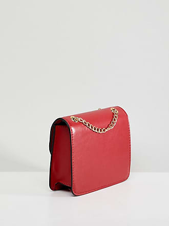 59dabd3c7ba8b Asos ring and ball cross body bag with chain strap - Red