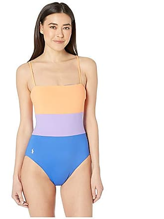 4ca684fe8efb36 Polo Ralph Lauren Modern Solids Color Block Lace Back Mio One-Piece Swimsuit  (Multi