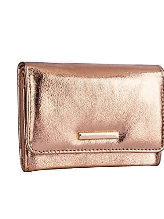55322d4260615 SIX Großes Metallic Damen Portemonnaie mit vielen Fächern in Nude