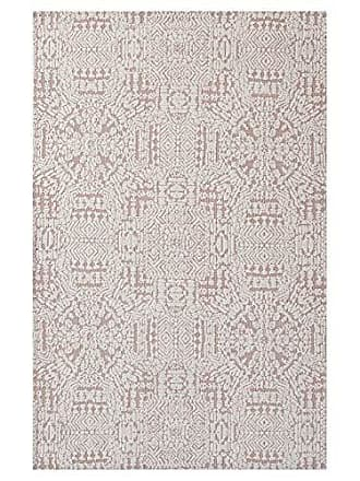 ModWay Modway Javiera Contemporary Moroccan 8x10 Area Rug In Ivory and Cameo Rose