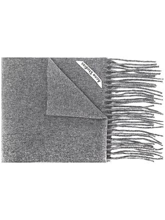 Acne Studios Canada Skinny fringed scarf - Cinza