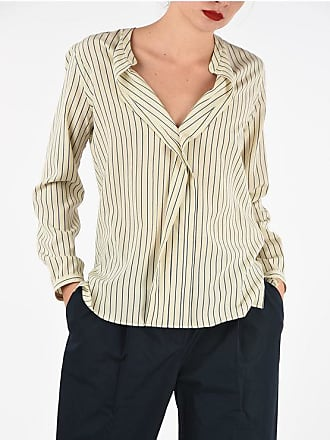 Aspesi Silk Striped Corean Blouse Größe 40