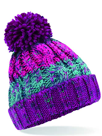 ee332961 4sold Mens Womens Girls Beanie Warm Winter Corkscrew Cable Knitted Bobble  Hat Plain Ski Pom Wooly