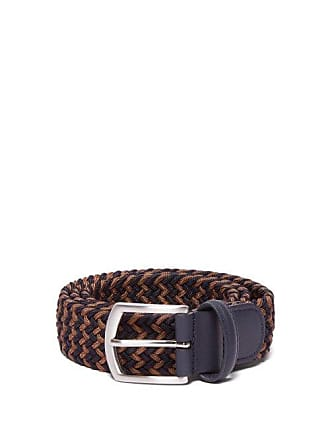 Anderson's Woven Elasticated Belt - Mens - Navy/dk Olive