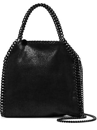 6478a258af Stella McCartney The Falabella Mini Faux Brushed-leather Shoulder Bag -  Black