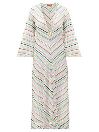 a80f90fe1c75e Missoni Stripe Lace Trim Knitted Kaftan - Womens - Multi
