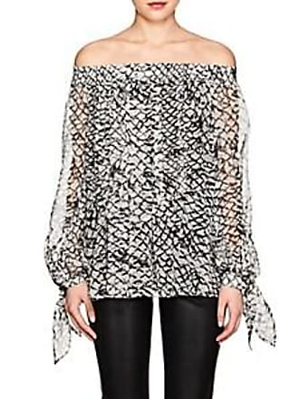 27736f9bbe31a Derek Lam Womens Scale-Print Silk Off-The-Shoulder Blouse - Ivory-