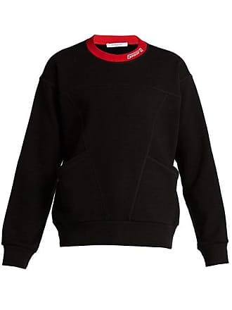 Givenchy Logo Embroidered Cotton Sweatshirt - Mens - Black