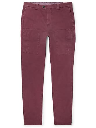 Brunello Cucinelli Stretch-cotton Cargo Trousers - Burgundy