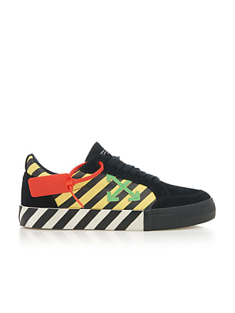 Off-white Suede and Canvas Low-Top Sneakers