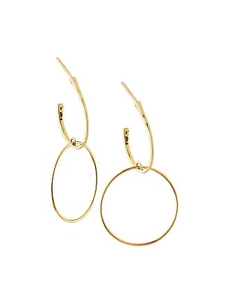 Lana Jewelry 14k Small Double-Bond Wire Hoop Earrings