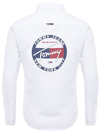 Tommy Jeans CAMISA MASCULINA BACK GRAPHIC - BRANCO