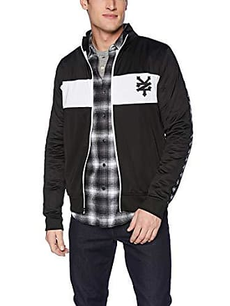 Zoo York Mens Jacquard Taped Zipper Jacket, Black, Large