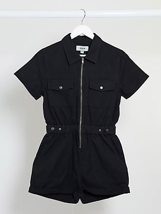 New Look utility playsuit in black