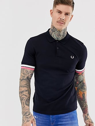 Fred Perry bold cuff polo in navy